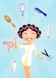 Modny fryzjer ilustracji
