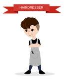Modny fryzjer Płaski fryzjer Obrazy Stock