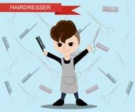 Modny fryzjer Płaski fryzjer Obraz Stock