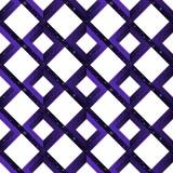 Modny geometryczny bezszwowy escher złudzenia wzór niemożliwi kształty - kwadraty, rhombuses z gwiazdami na białym tle Obrazy Royalty Free