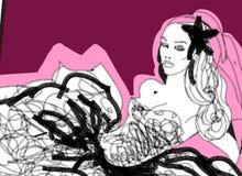 modny graficznego panny młodej Fotografia Royalty Free