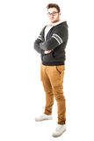 Modny hoodie facet obrazy stock