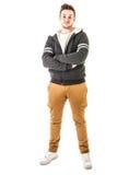 Modny hoodie facet fotografia royalty free