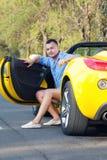 Modny kierowca fotografia royalty free