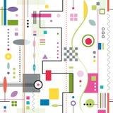 Modny kolorowy abstrakta wzór Zdjęcia Stock
