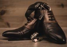modny mężczyzna ` s odzieżowy i akcesoria Obrazy Stock