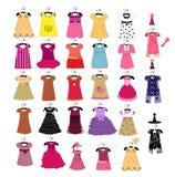 Modny piękny odziewa dla małych dziewczynek Zdjęcie Stock