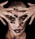 Modny potwora portret Fotografia Royalty Free