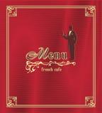 Modny restauracyjny menu tło Fotografia Stock