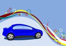 Modny samochód Z Dekoracyjnym tłem Zdjęcie Royalty Free