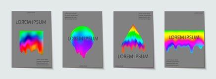 Modny szablon ustawiający z futurystycznymi nowożytnymi neonowymi kształtami dla plakata, pokrywa, karta, broshure, sztandar ilustracji