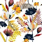 Modny wektorowy bezszwowy piękny artystyczny jaskrawy tropikalny tupocze ilustracja wektor