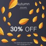 Modny współczesny styl pomija jesieni tła ilustrację Obraz Stock