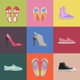 Modnych butów Inkasowy Reklamowy plakat Zdjęcia Stock