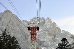 Modo alla sommità dello Zugspitze Fotografia Stock Libera da Diritti