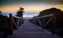 Modo alla spiaggia Fotografie Stock