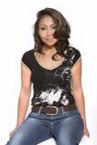 Modo. Asiatico. Jeans. Immagine Stock Libera da Diritti