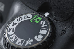 Modo automatico della macchina fotografica Fotografie Stock