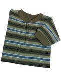 Modo: Camicia lunga barrata del manicotto del ragazzo del bambino immagine stock libera da diritti