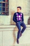 Modo casuale del giovane a New York Fotografia Stock Libera da Diritti