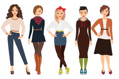 Modo casuale per la donna royalty illustrazione gratis