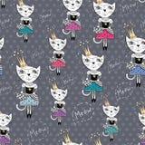 Modo Cat Vector Pattern Fotografia Stock