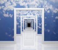 Modo a cielo Immagini Stock