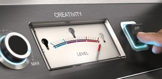 Modo criativo contratado - conceito da empresa de propaganda ilustração stock