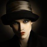 Modo d'annata della donna Fotografia Stock
