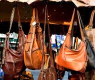 Modo d'annata delle borse di cuoio Fotografia Stock Libera da Diritti