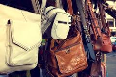 Modo d'annata delle borse di cuoio Immagini Stock
