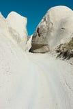 Modo d'inseguimento di Cappadocia fotografia stock libera da diritti
