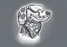 Modo Dalmatian del cane Fotografia Stock Libera da Diritti