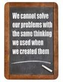 Modo de pensar de la solución de problemas Foto de archivo libre de regalías