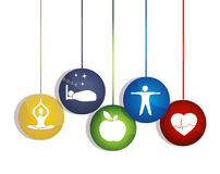 Modo de vida saudável. Maneiras de manter um coração saudável. ilustração stock