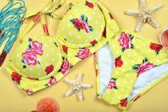 Modo del bikini del costume da bagno di estate Immagini Stock