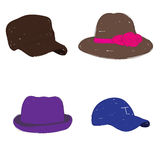 Modo del cappello Fotografie Stock