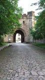 Modo del portone all'abbazia Fotografia Stock Libera da Diritti