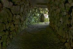 Modo dell'entrata al fogou al cairn Euny, Cornovaglia fotografie stock libere da diritti