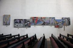Modo dell'incrocio nella chiesa della trinità santa in Gemunden Fotografie Stock