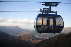 Modo della corda di Hakone Fotografie Stock