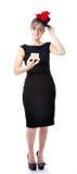 Modo della donna di vedova vestito Fotografie Stock Libere da Diritti