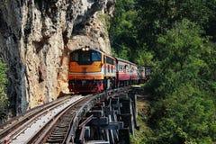 Modo della ferrovia sulla struttura di legno Fotografie Stock