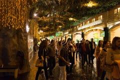 Modo della passeggiata al mondo Genting della località di soggiorno Fotografia Stock Libera da Diritti