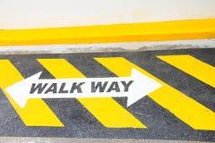 Modo della passeggiata di sicurezza Immagini Stock Libere da Diritti
