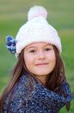 Modo della ragazza di inverno Fotografie Stock