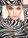 Modo della zebra Fotografia Stock Libera da Diritti