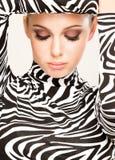 Modo della zebra fotografie stock libere da diritti