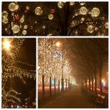 Modo di Andrassy a christmastime immagini stock libere da diritti