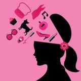 Modo di bellezza e signora Lifestyle Vector ed icona royalty illustrazione gratis